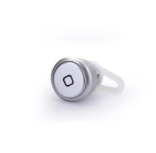 Sannysis(Tm) 1Pc Bluetooth Headset Earphone For Cell Phone Iphone Samsung Htc (Silver)