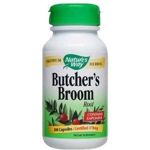 Nature's Way - Butchers Broom Root, 470 mg, 100 capsules [Health and Beauty]