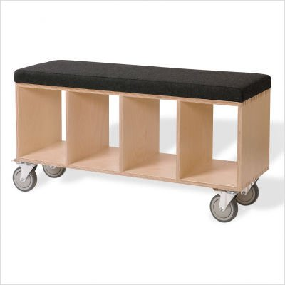 Bench Box with Casters - Gray