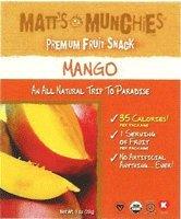 Matt's Munchies Organic Mango Fruit Snack 1oz pack (pack of 12)