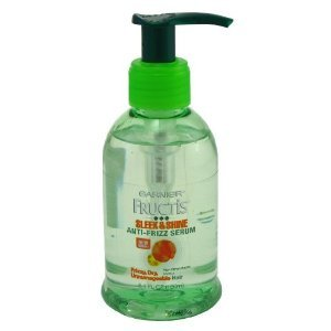 Garnier Fructis Leave-In Anti-Frizz Serum for for fizzy, dry and unmanageable hair, Sleek & Shine, 5.1 fl oz (Pack of 3)