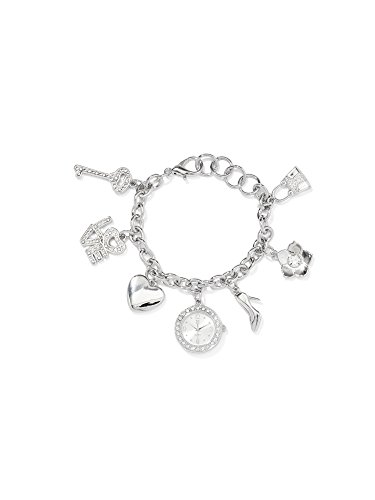New York & Co. Women's Multi-Charm Bracelet Watch 0 Silver (New York And Company Shoes compare prices)