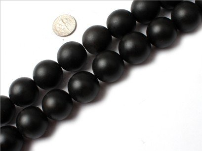 20mm round gemstone brazil balck agate beads strand 15