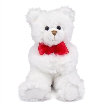 Lil Dena Huggums Stretch Arms Plush White Teddy Bear by First and Main - 1