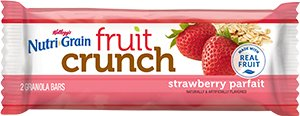 Kellogg's Nutri Grain Fruit Crunch ,Strawberry Parfait 20-1.48 oz. pouches