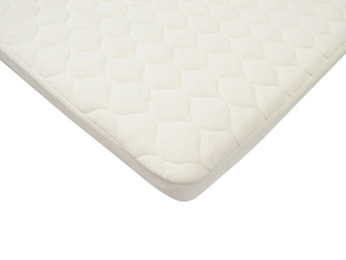 American Baby Company  Organic Waterproof Quilted Pack N Play Playard Size Fitted Mattress Pad Cover, Natural