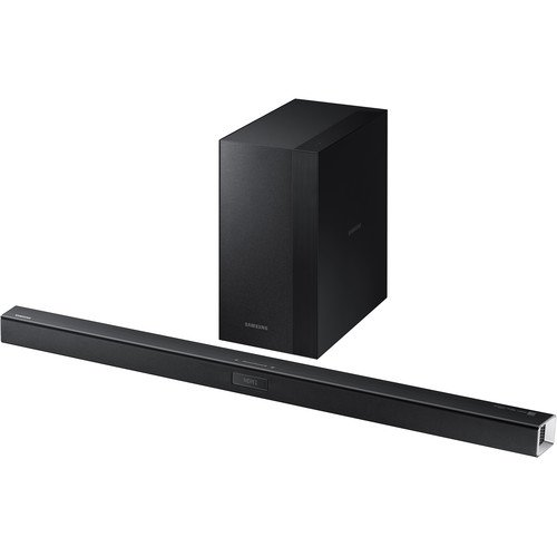 Samsung 2.1 Channel 300 Watt Sound Bar with Wireless Active Subwoofer Home Theater System, Bluetooth, Soundshare, Smart On, 6 DSP Settings, 3D Sound Plus, HDMI, USB Host, Black Finish