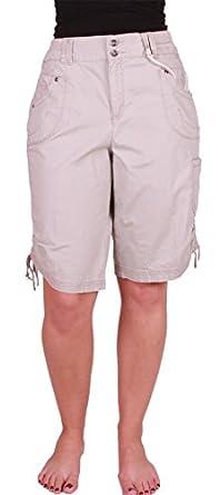 Khakis & Co Women's Knee Length Cargo Short (18, Classic