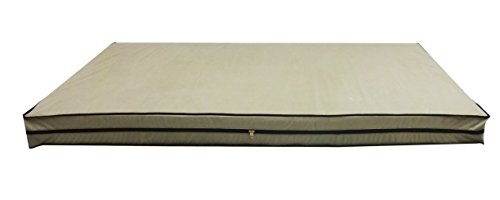 "Glassiano Dust & Water Proof Twin Size(36""X72""X5"") Beige Zipper Mattress Cover - Set Of 2pcs"