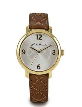 EDDIE BAUER Watches LADIES' DIAMOND QUILT - ROUND (TAN)