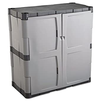 Rubbermaid Plastic Storage Cabinet 36x18x37 Gray Industrial Scientific