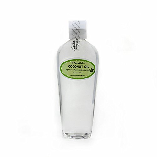 Fractionated Coconut Oil Pure Organic Raw by Dr.Adorable 8 Oz