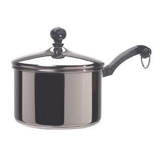 Farberware Cookware Classic 2Qt Saucepan Aluminum Base Stainless Steel Body