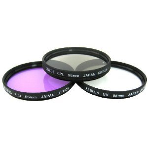 Professional High Quality 3 Piece Filter Set For Canon SLR Cameras That Have A Canon EF 50mm f/1.8 II Lens
