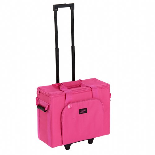 Creative Notions Sewing Machine Trolley In Pink front-118844