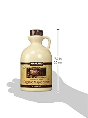 Kirkland Signature 100 Percent Maple Syrup, Dark Amber, 33.8 Fluid Ounce from UCCI (European Credit and Commerce International)