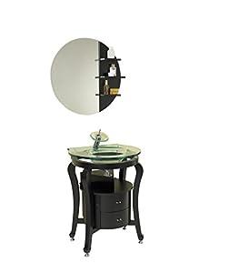 simpatico espresso modern bathroom vanity with mirror shelves finish