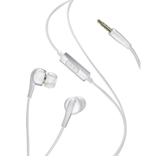 Samsung Ehs60 Stereo Hands Free Headset With Mic And Answer Key For Samsung Galaxy S3 S Iii And Other 3.5Mm Devices - White - Bulk Packaging