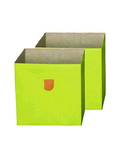 Phoenix Set Caja de Almacenamiento 2 Uds. Caro Verde