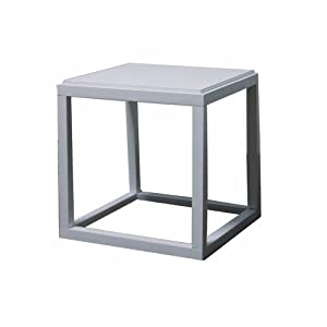 Amazon Com Ore International Stackable White Cubic Table