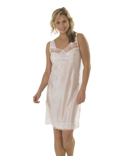 womens-ladies-anti-static-full-slip-underskirt-built-up-shoulder-with-front-bottom-lace-pink-14