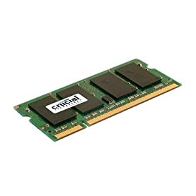 Crucial 2GB 667 Mhz CT25664AC667 DDR2 200-Pin SODIMM Laptop Memory