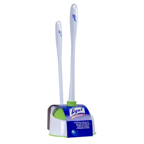 lysol toilet bowl brush with plunger and caddy new free shipping ebay. Black Bedroom Furniture Sets. Home Design Ideas