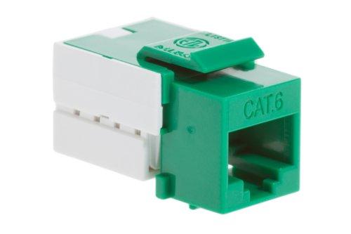 Cat6 Rj45 110 Type Keystone Jack, Green - Lifetime Warranty