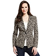 M&S Collection Animal Print Jacket