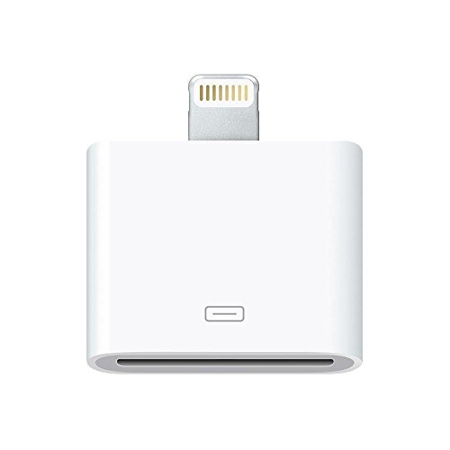 30 pin to 8 pin Charge & Sync Adapter Converter Compatible with iPhone 6. 6 Plus, 5, 5c, 5s, iPad, iPad Mini, iPod Touch, iPod (White)