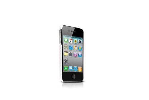 Tunewear CarbonLook Ultra Thin Case for iPhone 4 (White) (Fits AT&T iPhone)