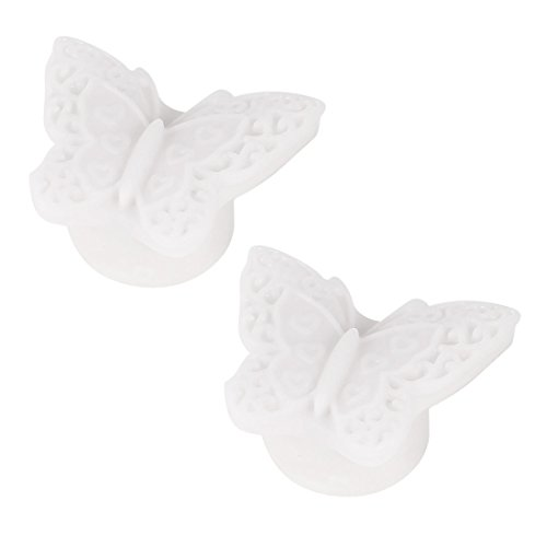 2 Pcs Butterfly Shaped Colorful Led Night Light Table Lamp White front-1011756