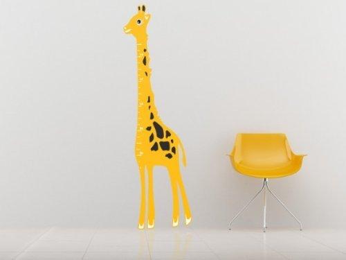 Children's Giraffe Height Chart Wall Sticker