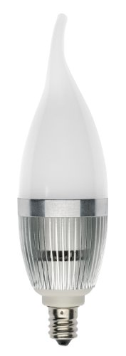 Starlights D6X 110-E12-Cf-6500-330-D Revolution 110-Volt Dimmable Frosted Mini Candelabra Led Bulb, Cool White