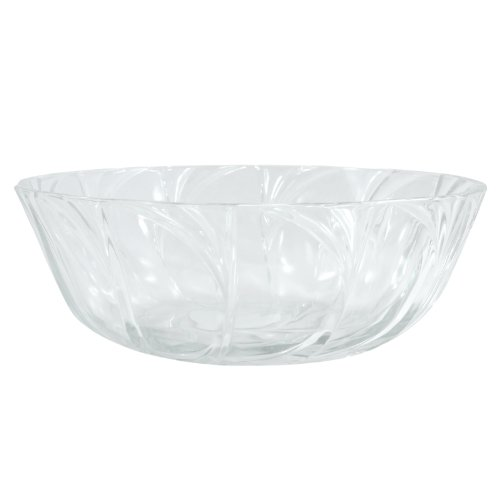 Elegant Decorative Clear Glass Serving Dish Fruit Bowl Center Piece - 9 Inch
