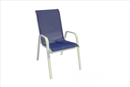 DC America 372139 BL4PK 4 Pack Fantasy Sling Chair, Blueberry