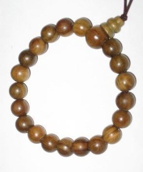All Natural Handmade Green Sandalwood Prayer Bracelet -A01