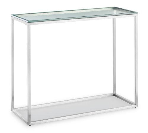 Zuo Sprocket Console Table, Clear Glass
