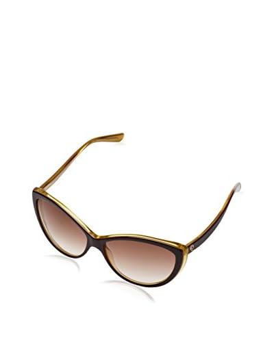 Alexander McQueen Gafas de Sol AMQ 4147/S Woman Marrón / Amarillo
