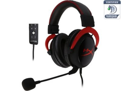 HyperX Cloud II Gaming Headset with 7.1 Virtual Surround Sound for PC\PS4\Mac\Mobile - Red