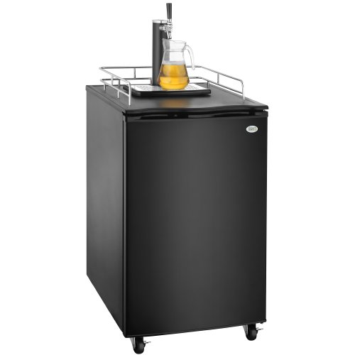 Great Northern Black Kegerator Beer Dispenser Refrigerator