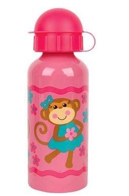 Stephen Joseph Stainless Steel Water Bottle, Girl Monkey front-922458