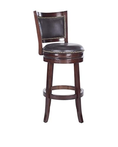 Safavieh Lazzaro Bar Stool, Sierra Brown/Brown