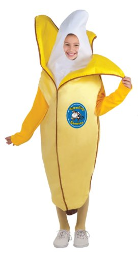 Fruits and Veggies Collection Appealing Banana Child Costume, Small