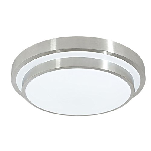 GLW 12W 10 inch 6000K Ceiling Light Cool White Round Flush Mount Lighting Ceilinglight for Kitchen Bedroom Dining Room 1000LM 100W Halogen Bulb Equivalent (Flush Mount Modern Ceiling Fan compare prices)