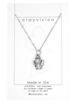 Clayvision Little Angel Charm Necklace
