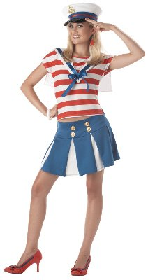 [Teen Cruise Ship Cutie Sailor Costume - Teen 7-9] (Military Costumes For Teens)