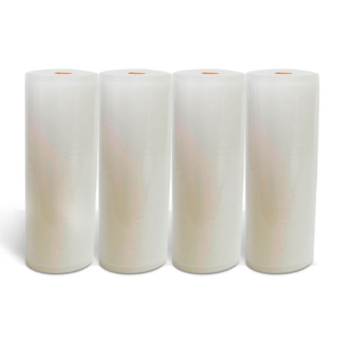 "Houseables 11""X50' Large Plastic Roll/Bag For Home Vacuum Sealers/Food Seal Machines (4)"