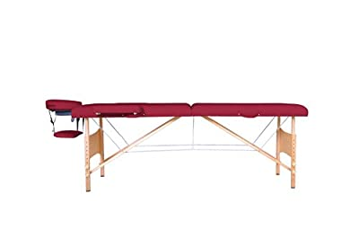 New 2014 Burgundy Portable Massage Table w/Free Carry Case T1 Chair Bed Spa Facial