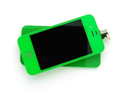 Iphone 4S Retina Lcd Digitizer Full Repair/Replacement Kit Back Cover/ Warranty (Lime Green)